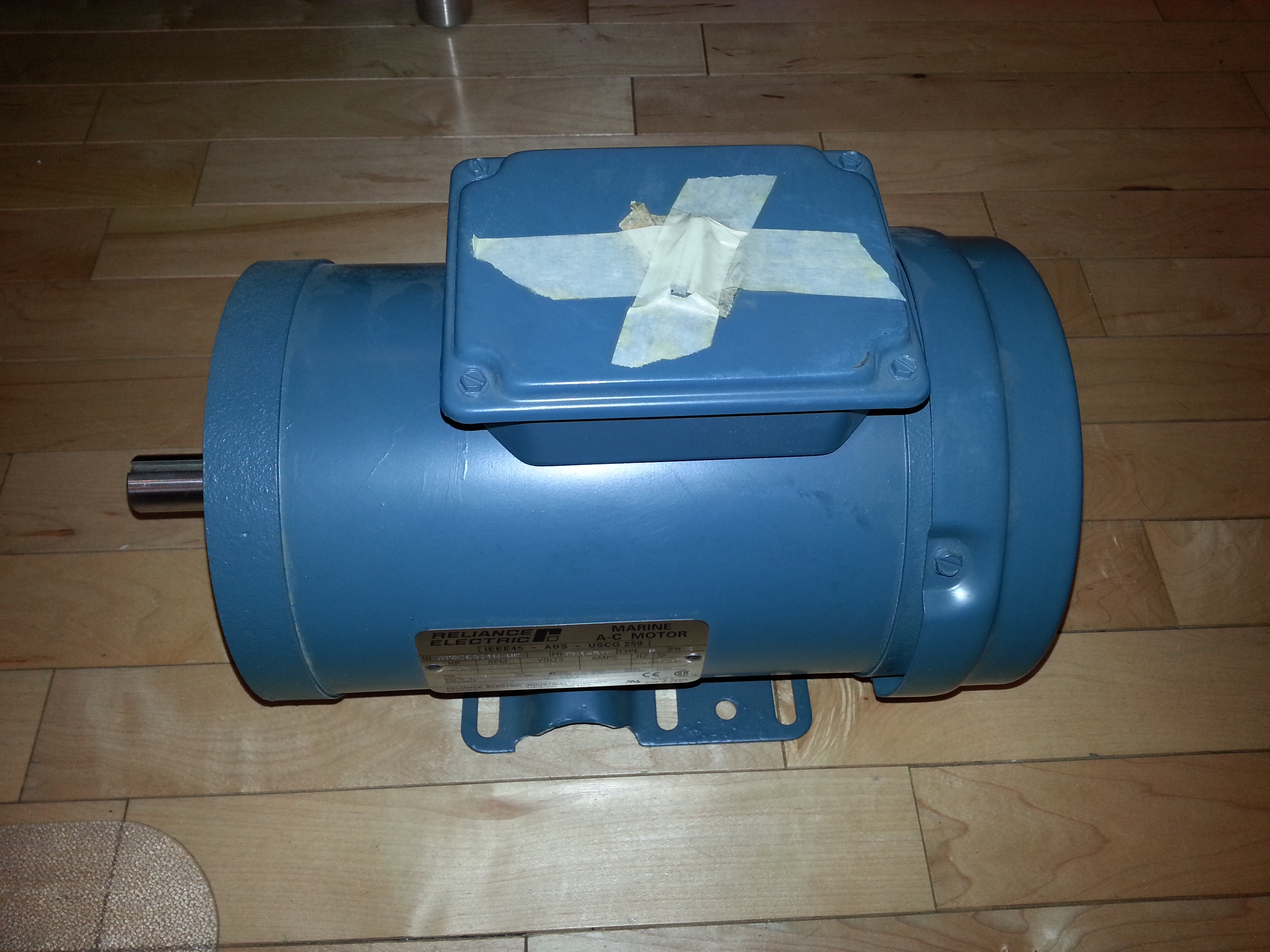 Reliance Baldor 3 Phase 1 5 Hp 460 Volt Electric Motor