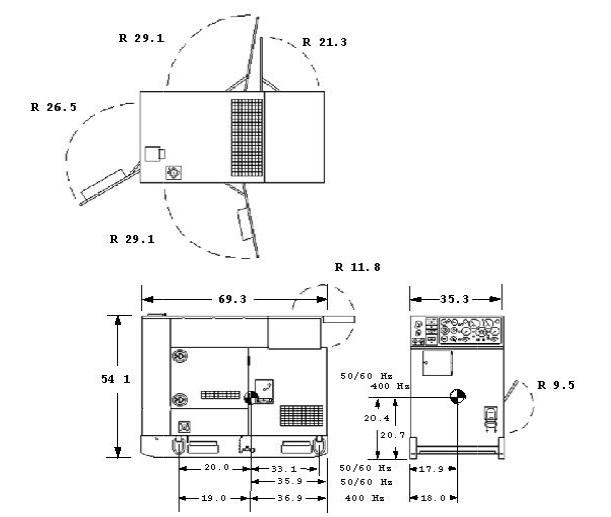 MEP804A-MEP804B-MEP814A-MEP814B-Dimensions